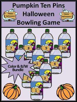 Pumpkin Activities: Pumpkin Ten Pins Halloween Bowling Game Activity
