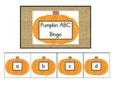 Pumpkin ABC Bingo