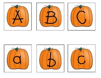 Pumpkin ABC Match