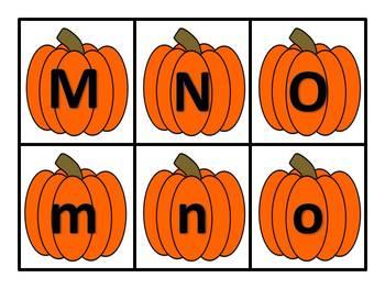 Pumpkin ABC Match Up Game