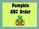 Pumpkin ABC Order for Interactive Whiteboard