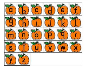 Pumpkin ABC abc Lotto and Bingo Marker Games