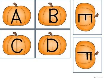 Pumpkin ABC match FREEBIE!