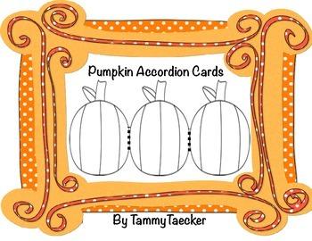 Pumpkin Accordion Cards