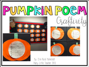 Pumpkin Acrostic Poem and Craft