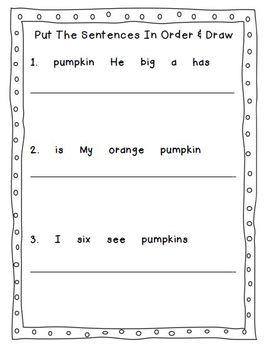 Pumpkin Activites for Fall
