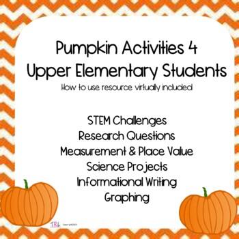 Pumpkin Activities for Upper Elementary