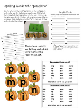 Pumpkin Activities - 6 Favorites
