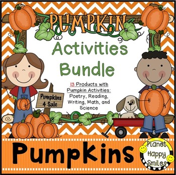 Pumpkin Activities Bundle, Planet Happy Smiles