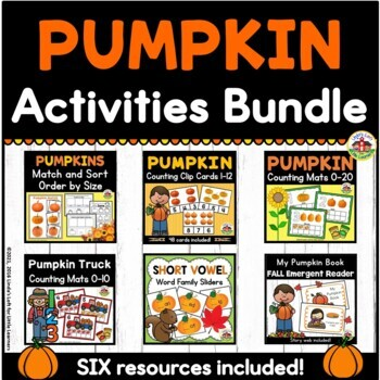 Pumpkin Activities Bundle for Preschool