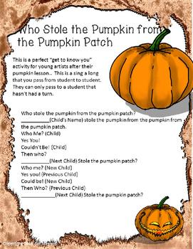 Pumpkin Activities: Clay Pumpkin, Soft Sculpture, and Pumpkin Song
