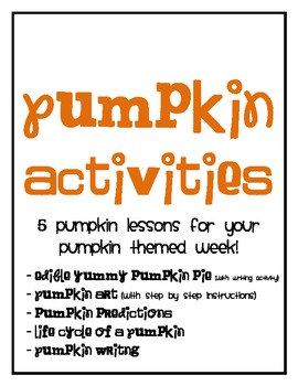 Pumpkin Activities {For a WHOLE week!}