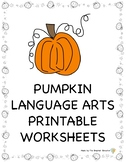 Pumpkin Activities: Language Arts