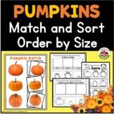 Pumpkin Activities for Preschool: Match, Sort, Order by Size