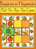 Pumpkin Activities: Pumpkins & Haystack Fall-Thanksgiving Tic-Tac-Toe Game