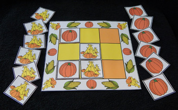 Pumpkin Activities: Pumpkins & Haystack Fall-Thanksgiving Tic-Tac-Toe Game