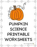 Pumpkin Activities: Science