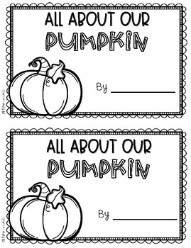 Pumpkin Activities for Math, Science, and Writing