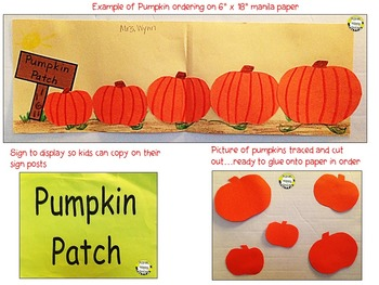 Pumpkin Activity ~ Pumpkin Ordering by Size  Math Activity