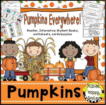 "Pumpkin Activity~ ""Pumpkins Everywhere"" Reader, Student Books, Worksheets & more, Planet Happy Smiles"