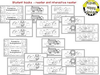 "Pumpkin Activity~ ""Pumpkins Everywhere"" Reader, Student Books, Worksheets & more"