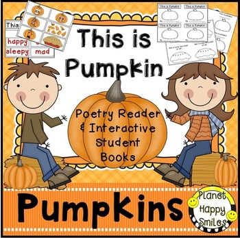 "Pumpkin Activity ~ ""This is Pumpkin"" Poetry Reader & Student Book, Planet Happy Smiles"