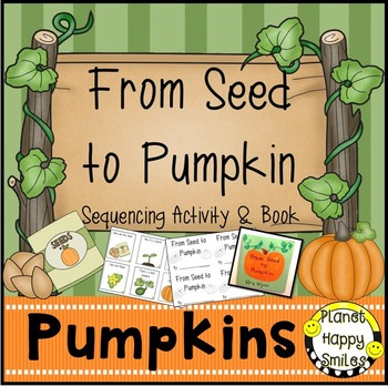 Pumpkin Activity ~ Writing and Sequencing Activity, Planet Happy Smiles