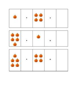Pumpkin Addition 1-10 Picture Math