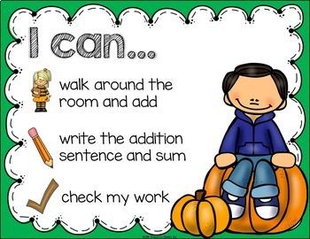 Pumpkin Addition Task Cards