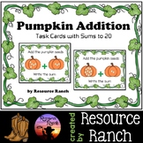 Addition to 20 with Pumpkin Task Cards