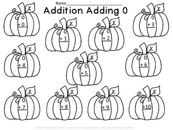 Pumpkin Addition Adding 0-10
