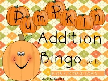 Pumpkin Addition Bingo Game