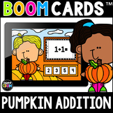 Pumpkin Addition Math Boom Cards™ [Addition Facts 1-5] Fal