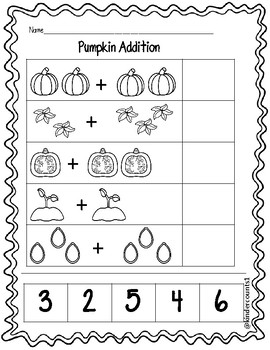 Pumpkin Addition Cut and Paste