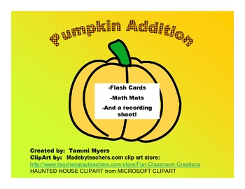 Pumpkin Addition Flashcards