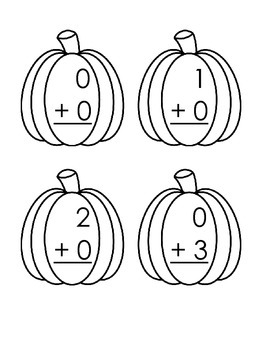 Pumpkin Addition Flashcards