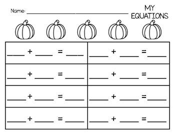 Pumpkin Addition Mat