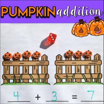 Pumpkin Addition Math Center