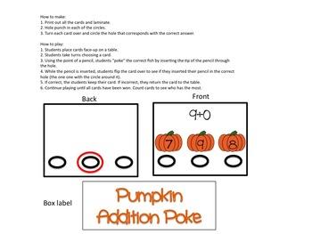 Pumpkin Addition Poke