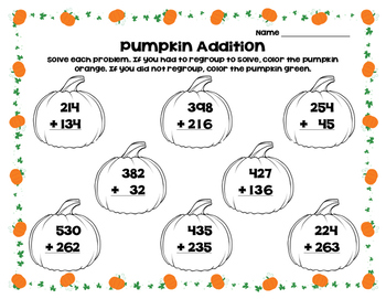Pumpkin Addition Sort