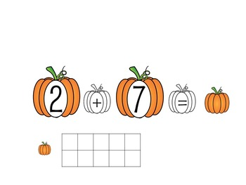 Pumpkin Addition With Ten Frames For Smart Board
