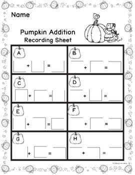 Pumpkin Addition Write the Room