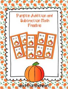 Pumpkin Addition and Subtraction FREEBIE!