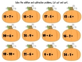 Pumpkin Addition and Subtraction Sort!