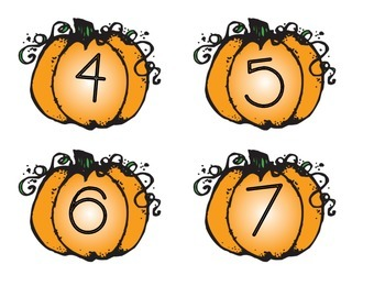 Pumpkin Addition and Subtraction Sort