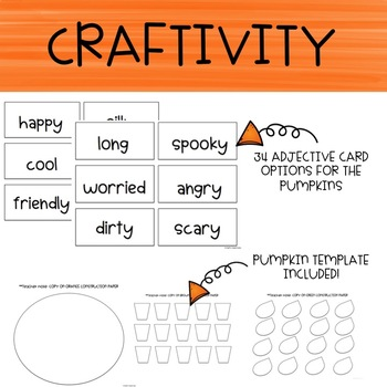 Pumpkin Adjective Craftivity