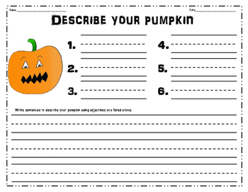 Pumpkin Adjectives