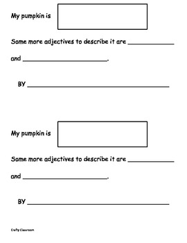 Pumpkin Adjectives Activities