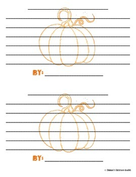 Pumpkin Adjectives + Writing Activity