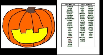 Pumpkin Affix Assembly Game Color Version